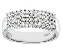 Damen-Ring 9 K Weißgold Diamant