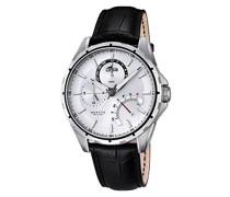 Herren-Armbanduhr Analog Quarz Leder 18208/1