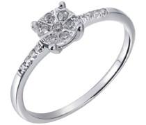 Damen-Ring 14 Karat (585) Weißgold Diamant
