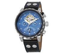 Armbanduhr für Herren mit Analog Anzeige, Automatik-Uhr und Lederarmband - Wasserdichte Herrenuhr mit zeitlosem, schickem Design - klassische Uhr für Männer - BM136-933 Limoges