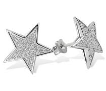 Damen-Ohrstecker Sterne 925 Sterlingsilber 62 weiße Zirkonia