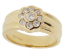 Damen-Ring 18 Karat (750) Gelbgold Diamant weiß