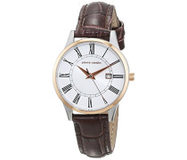 -Damen-Armbanduhr-PC901732F04, Silber/Rosegold/Braun