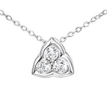 Damen-Halskette 9 Karat Weißgold Silber vergoldet 43, 2 cm PP05039W