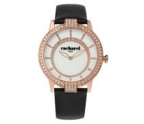Cacharel Damen-Armbanduhr Analog Quarz Leder CLD 009S-2BA