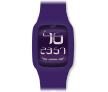 Swatch Touch Unisex Digitaluhr Violet SURV100