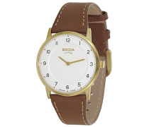 Damen-Armbanduhr Analog Quarz Leder 3254-02