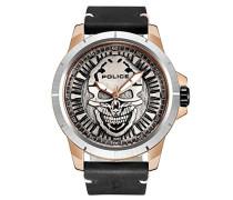 POLICE Herren-Armbanduhr REAPER Analog Quarz Leder P14385JSRS-57