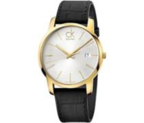 Calvin Klein Herren-Armbanduhr Analog Quarz Leder K2G2G5C6