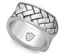 Herren-Ring 925 Sterling Silber quadratisch