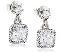 Damen-Ohrhänger Zeitlose Eleganz 925 Silber Zirkonia weiß - 290593CZ