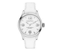 Nautica Herren-Armbanduhr XL Analog Quarz Silikon A11592G