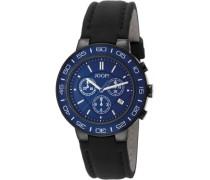 Herren-Armbanduhr XL Insight Chronograph Quarz Leder JP100911F08