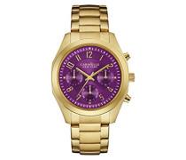 Caravelle New York Damen-Armbanduhr BOYFRIEND Chronograph Quarz Edelstahl beschichtet 44L200