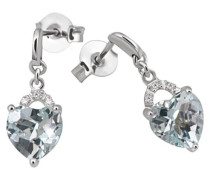 Goldmaid Damen-Ohrringe Herzen 9 Karat (375) Weißgold Fa_O3814WG