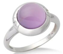 Damen-Ring  375 Weißgold mit Amethyst und 2 Brillanten 0,02ct MG9019RP