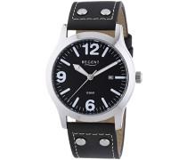 Regent Herren-Armbanduhr XL Analog Quarz Leder 11110673
