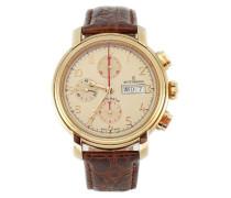 Herren-Armbanduhr XL Chronograph Automatik Leder 17072.6111