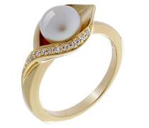 Damen-Ring mit Rund Perle Ringgröße 54 (17.2) - ZR-7234/G/54
