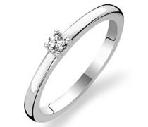 TI SENTO Milano Ring aus rhodiniertem Sterlingsilber - 1871ZI - Größe 52 (16,5mm)