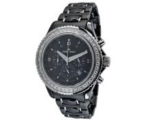 Damen-Armbanduhr Analog Quarz Premium Keramik Diamanten - STM11-154-1
