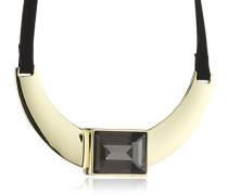 Damen Halskette Vergoldetes Metall Kristall Glaskristall 336108