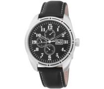 Herren-Armbanduhr Analog Quarz Leder DW0639