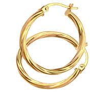 Damen-Creolen 375 Gelbgold 9 karat 20 mm Durchmesser