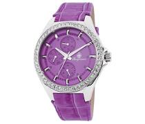 Armbanduhr für Damen mit Analog Anzeige, Quarz-Uhr und Lederarmband - Wasserdichte Damenuhr mit zeitlosem, schickem Design - klassische, elegante Uhr für Frauen - BM529-100 Tampa
