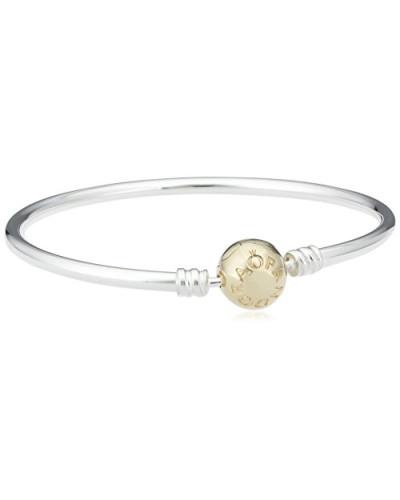 Damen-Armreif Silber vergoldet teilvergoldet 21 cm - 590718-21
