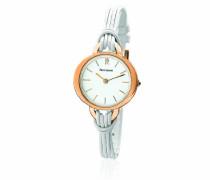 111G900  Damen-Armbanduhr Anastasie Quarz analog Leder Weiß
