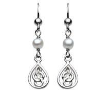 Sterling-Silber 925 Süßwasserperle, Tropfenform, keltisches Design
