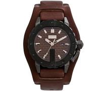 Herren-Armbanduhr Analog Quarz Leder 8500102