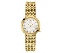 Diamond 97S114 - Damen Designer-Armbanduhr - Goldfarben