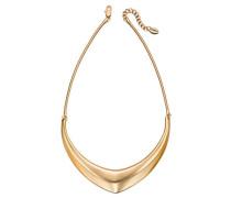 Damen-Halskette, 42,5–47,5cm, Modeschmuck, goldfarben