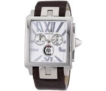 Cerruti 1881 Herren-Armbanduhr Chrono Leder Braun CRB001A213G