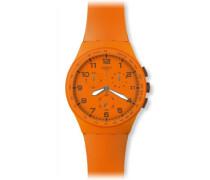 Unisex-Armbanduhr Chrono Plastic WILD ORANGE SUSO400 Chronograph Silikon SUSO400