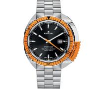 EDOX Herren-Armbanduhr EDOX HYDRO SUB Analog Quarz Leder 53200 3OM NIN