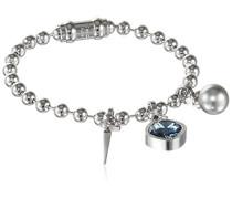 Damen-Armband My World Vergoldet rhodiniert Kristall blau 19.0 cm - BWWBBB22