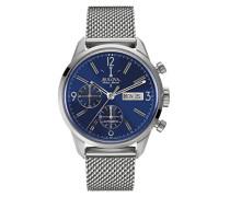Bulova Herren-Armbanduhr Chronograph Automatik Edelstahl 63C117