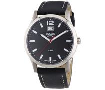 Herren-Armbanduhr XL Titanium Analog Quarz Leder 3580-01