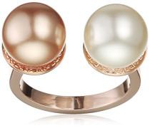 Rebecca Damen-Ring Hollywood Vergoldet teilvergoldet Perle Synthetische Perle Weiß/Rosa Ringgröße verstellbar - BHOARR22