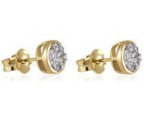Goldmaid Damen-Ohrstecker Glamour 585 Gelbgold 26 Brillanten 0,33 ct. Pa O5733GG