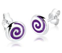 Damen Ohrstecker Spirale 925 Sterling Silber 305320112