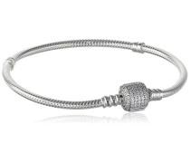 Damen-Armband Pavé-Kugelverschluss 925 Silber Zirkonia weiß 19 cm - 590723CZ-19