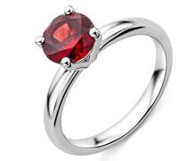 Damen Solitär-Ring Weißgold 9 kt-Granat-T56-M9057R6