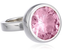 M&M Damen-Ring 925 Sterling Silber Zirkonia pink Gr.55 (17.5) MR-196278/55