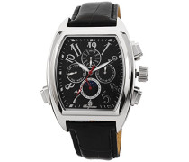 Armbanduhr für Herren mit Analog Anzeige, Automatik-Uhr und Lederarmband - Wasserdichte Herrenuhr mit zeitlosem, schickem Design - klassische Uhr für Männer - BM131-122 Sao Paulo