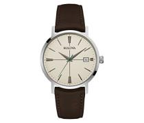 Classic Aerojet 96B242 - Herren Designer-Armbanduhr - Armband aus Leder - Dunkelbraun