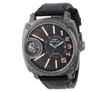 Sector Herren-Armbanduhr XL Compass Analog Quarz Nylon R3251207004